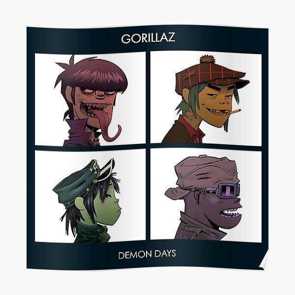 Gorillaz Demon Days Vintage Poster