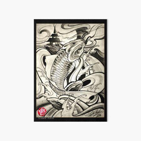 koi fish by Luke Red Art Board Print