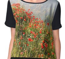 Little Red Soldiers Chiffon Top