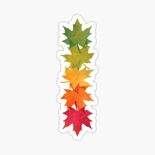 Falling Maple Sticker