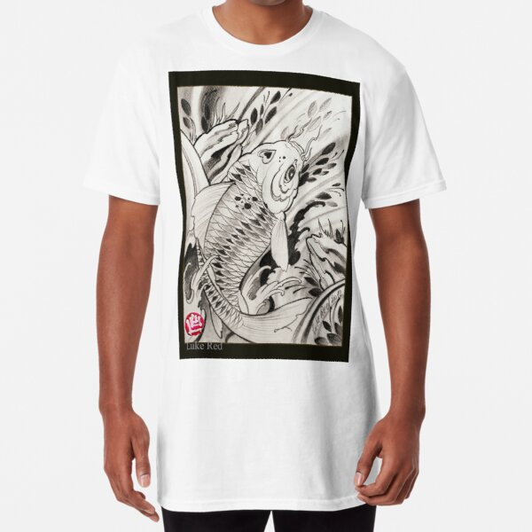 koi fish by Luke Red Long T-Shirt