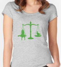 May we burn her? Women's Fitted Scoop T-Shirt
