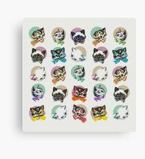 Cats & Bowties Canvas Print
