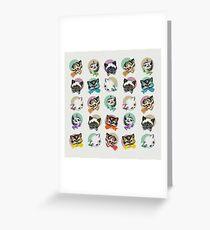 Cats & Bowties Greeting Card