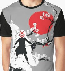 Japanese Wolf Graphic T-Shirt