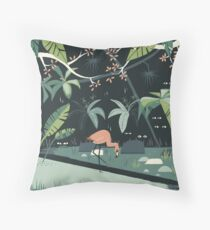 Nightshade Jungle Throw Pillow