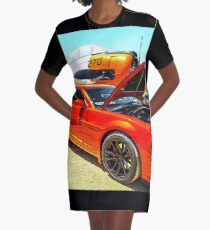 Chevy Camaro and Airplane  Graphic T-Shirt Dress