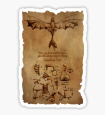 DaVinci's Dragon (Hiccup's Sketchbook) Sticker