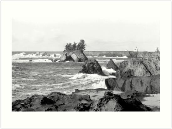 Lighthouse Beach - Oregon by Feral Beagle LLC