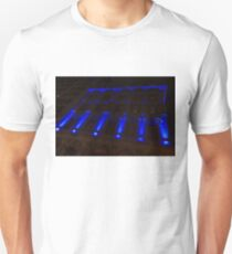 City Night Walks – Blue Highlights Facade Unisex T-Shirt