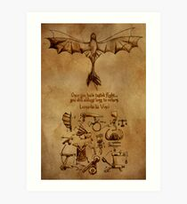 DaVinci's Dragon (Hiccup's Sketchbook) Art Print