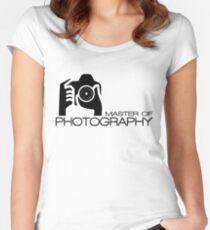 Photographer Camera T-Shirt Women's Fitted Scoop T-Shirt