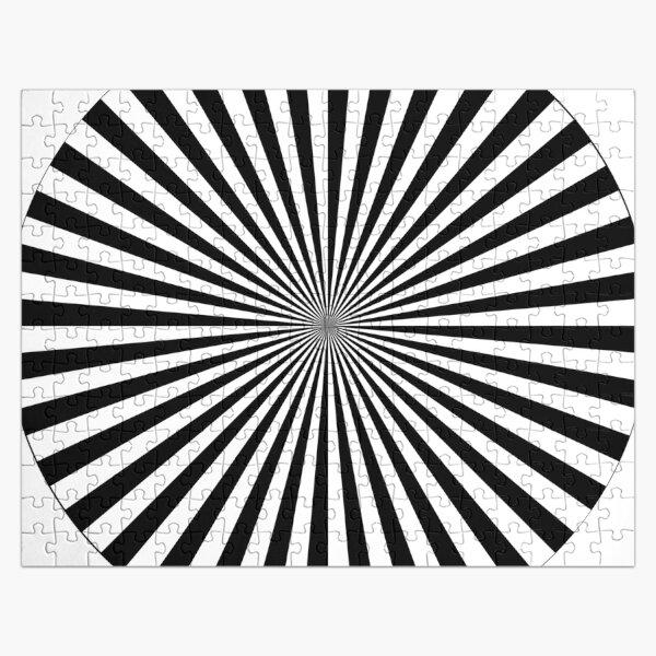 #Sunburst, #illustration, #psychedelic, #art, design, abstract, pinwheel, groovy, pattern, vector Jigsaw Puzzle
