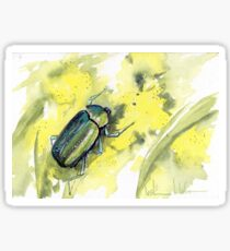 Green Scarab Beetle Sticker