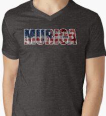Murica!!!   Men's V-Neck T-Shirt