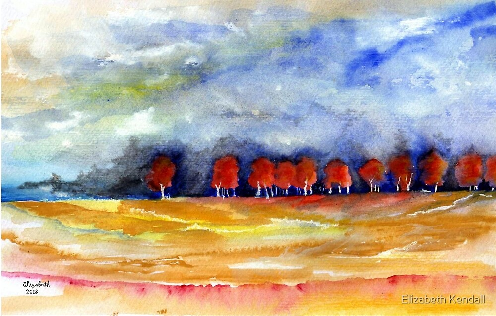 Red trees  by Elizabeth Kendall