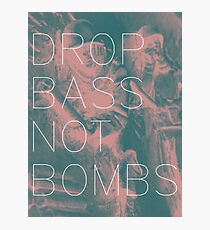 Drop Bass Not Bombs (Vintage) Photographic Print