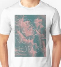 Drop Bass Not Bombs (Vintage) Unisex T-Shirt