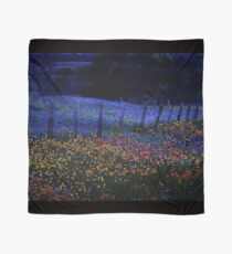 Neon Bluebonnets and Wildflowers at Night Scarf