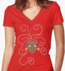 'Roro Women's Fitted V-Neck T-Shirt