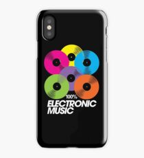 100% Electronic Music (black) iPhone Case/Skin