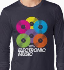 100% Electronic Music (black) Long Sleeve T-Shirt