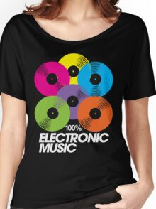 100% Electronic Music (black) Women's Relaxed Fit T-Shirt