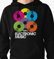 100% Electronic Music (black) Pullover Hoodie