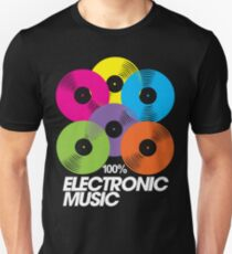 100% Electronic Music (black) T-Shirt