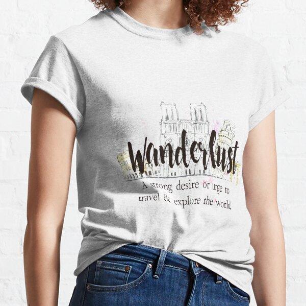 Wanderlust Camiseta clásica