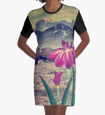 Evening Hues at Jiksa Graphic T-Shirt Dress
