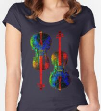 Cello Color Women's Fitted Scoop T-Shirt