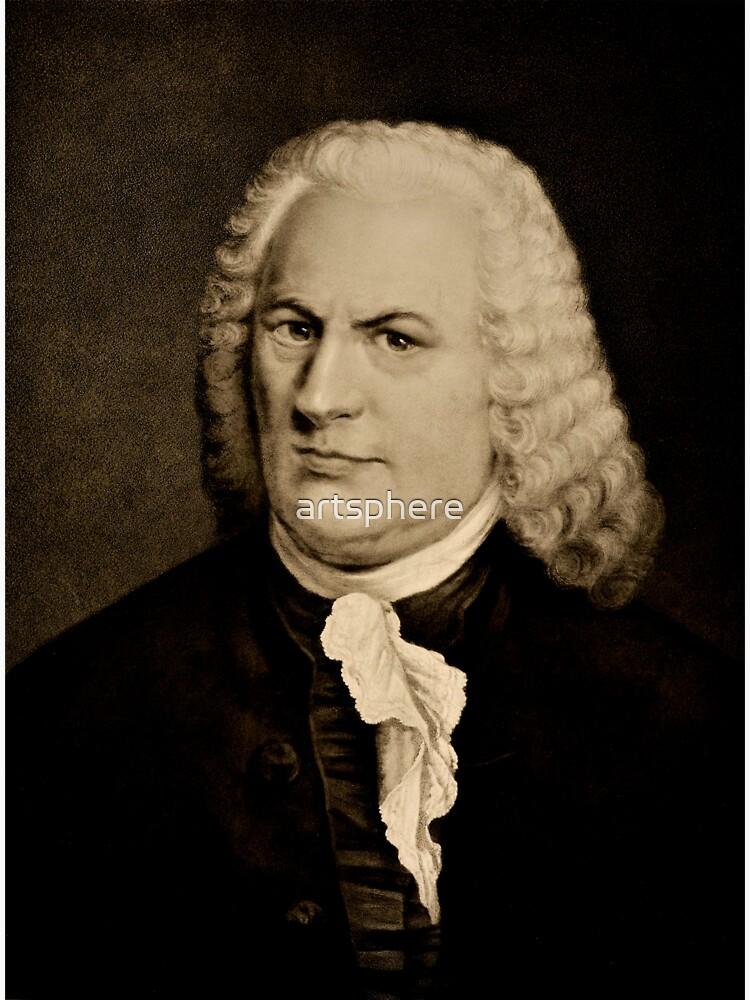 Composer Johann Sebastian Bach ~ Portrait by Rudolf Schuster by artsphere