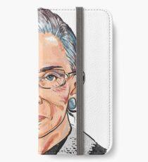 Richterin am Obersten Gerichtshof Ruth Bader Ginsburg iPhone Flip-Case/Hülle/Klebefolie