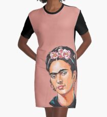 Frida Kahlo Graphic T-Shirt Dress