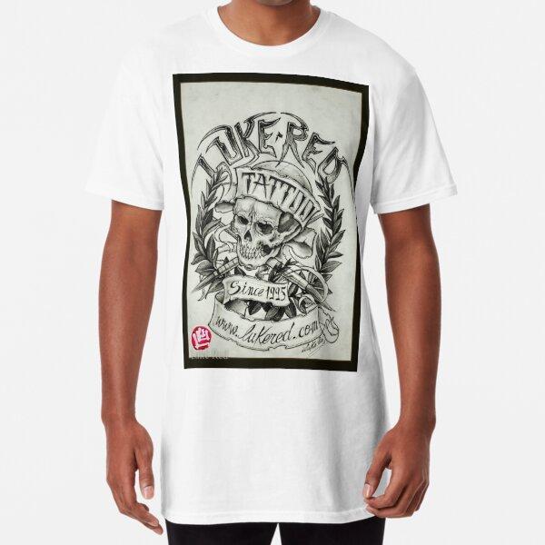 Skull with laurel Luke Red Long T-Shirt