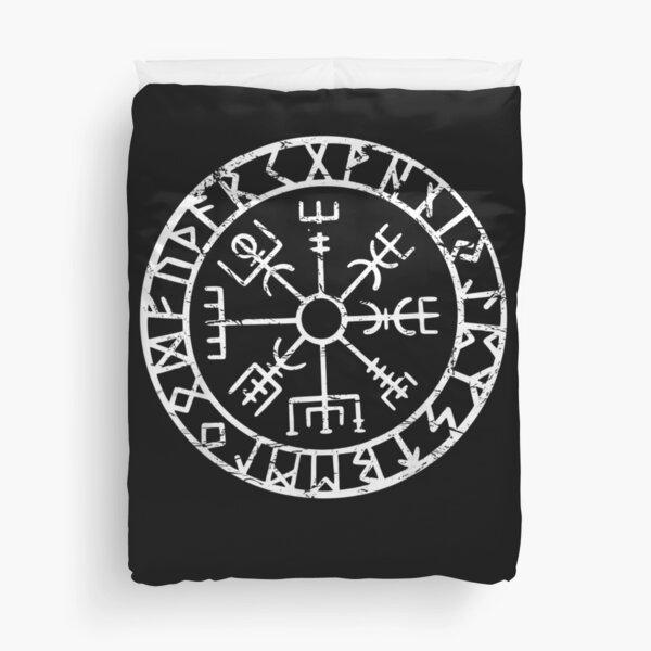 Viking Compass Vegvisir Icelandic Nordic Norse Viking Symbol T-Shirt Duvet Cover