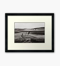 Hills from Val d'Orcia, Tuscany Framed Print