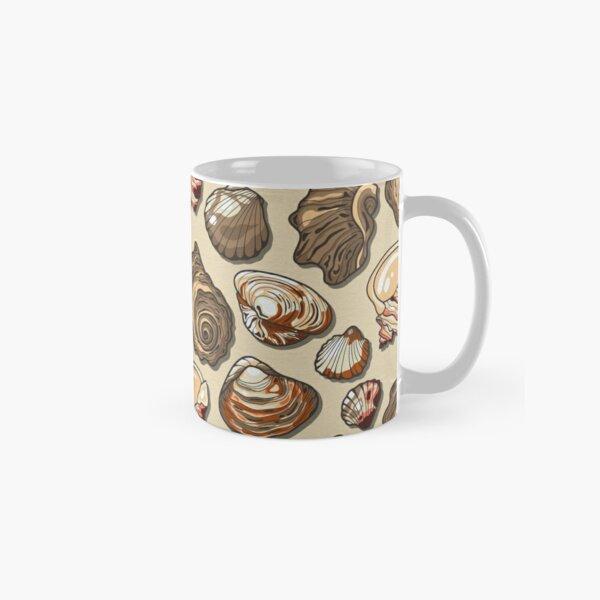 Black Sea Natural Color Seashell Classic Mug