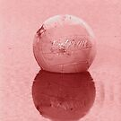 Volleyball Floating with Pink Tones by Buckwhite