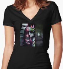 EMPTY CHAOS Women's Fitted V-Neck T-Shirt