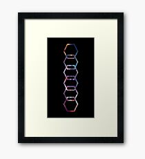 Galaxy hexagones Framed Print