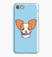Cute little papillon puppy iPhone Case/Skin
