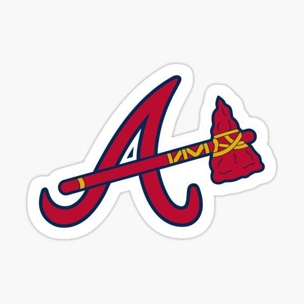 Brave atlanta axe strike Sticker