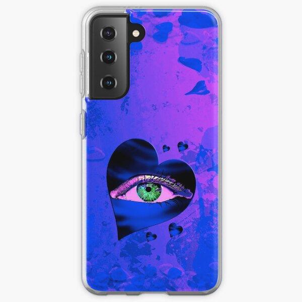 Legakulie Herz Auge Blütenblätter blau pink Samsung Galaxy Flexible Hülle