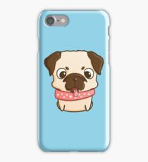 Cute little pug puppy iPhone Case/Skin