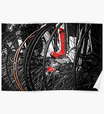 Penny Farthing Red Boots Poster