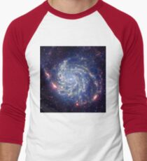 Messier 101 Spiral Galaxy Astronomy Image Men's Baseball ¾ T-Shirt