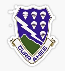 Currahee - 506th Infantry - 101st Airborne  Sticker