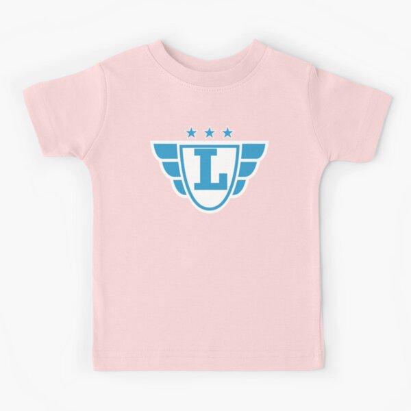 Superhero Letter L. Stars and Wings Kids T-Shirt